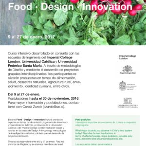Food / Innovation / Design – GoGlobal Chile 2017